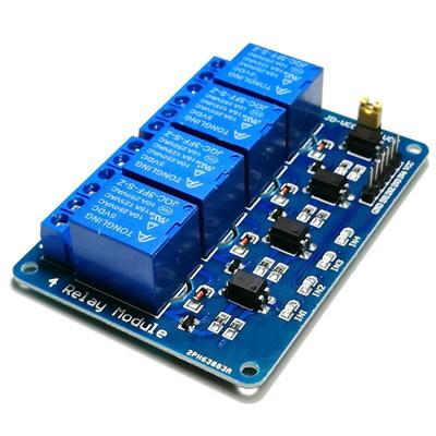 Релейный модуль 4 канала 5В (LOW)