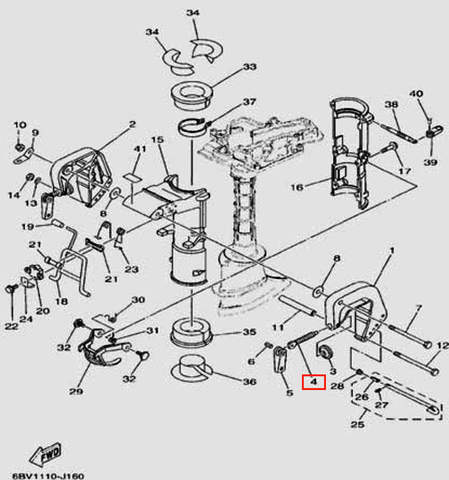 Винт прижимной для лодочного мотора F5 Sea-PRO(16-4)