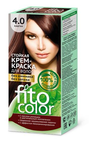 Фитокосметик Fito Color Стойкая крем-краска для волос тон Каштан 115мл
