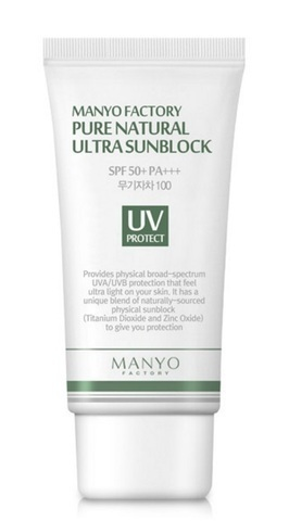 MANYO FACTORY Pure Natural Ultra Sunblock SPF50+ PA+++ Солнцезащитный Крем SPF50+ PA+++  50мл