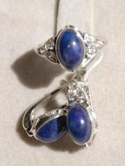 ц221 (кольцо + серьги из серебра)
