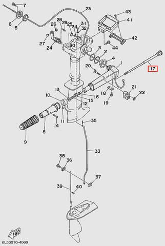 Вал румпеля  для лодочного мотора T3S SEA-PRO (11-17)