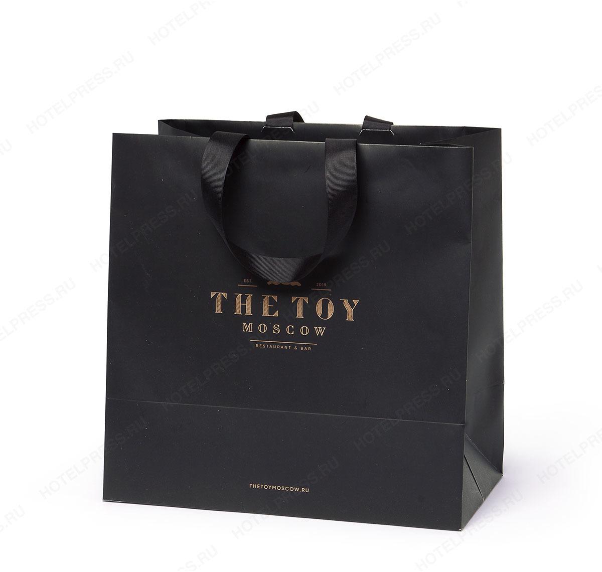 """Бумажный пакет ресторана """"The TOY"""""""