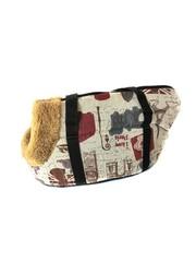 Сумка-переноска для собак с меховой отделкой Travel Life