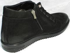 Зимние мужские ботинки на молнии Luciano Bellini 71783 Black.