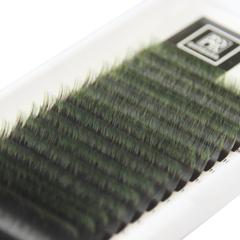 Омбре ресницы BARBARA (зеленые) МИКС