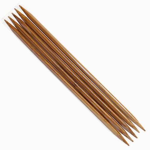 Спицы 5-комплектные бамбуковые 20 см