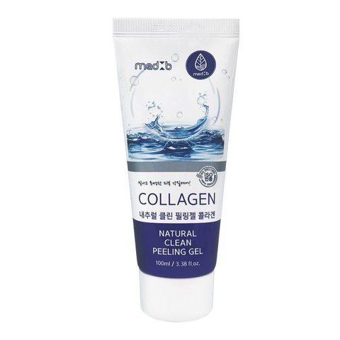 MED B Натуральный пилинг гель для лица с коллагеном Natural Clean Peeling Gel Collagen, 100 мл