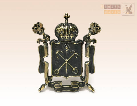 магнит Герб Санкт-Петербурга 3,5х3,5 см