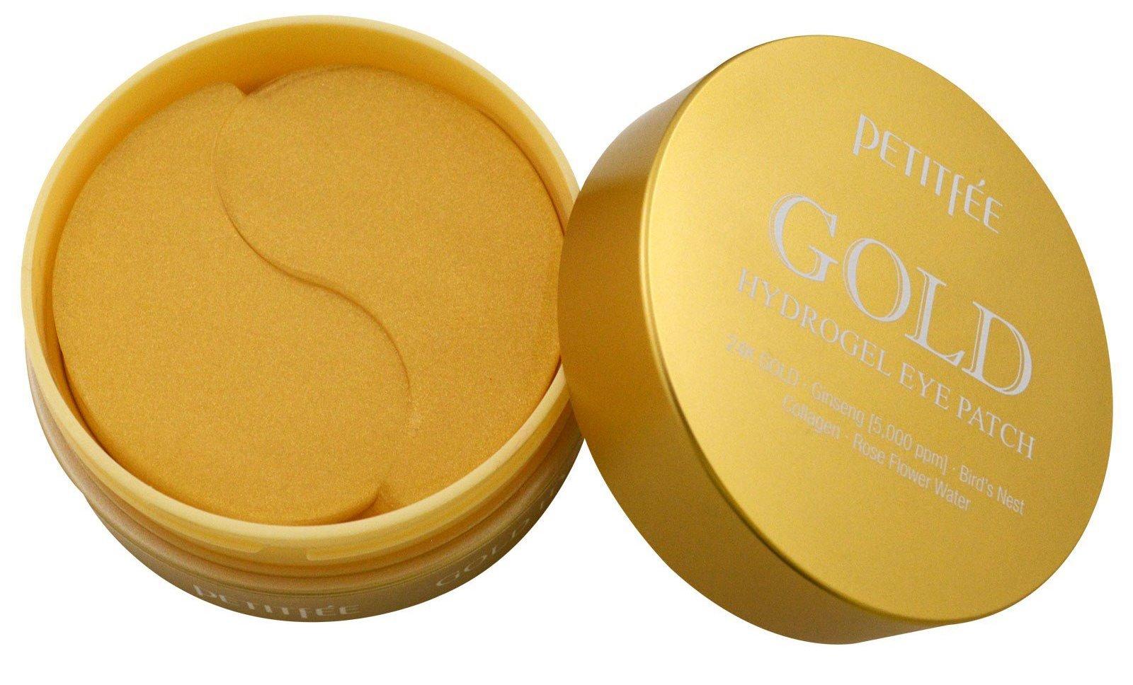 Petitfee Корея Гидрогелевые патчи под глаза с 24-каратным золотом