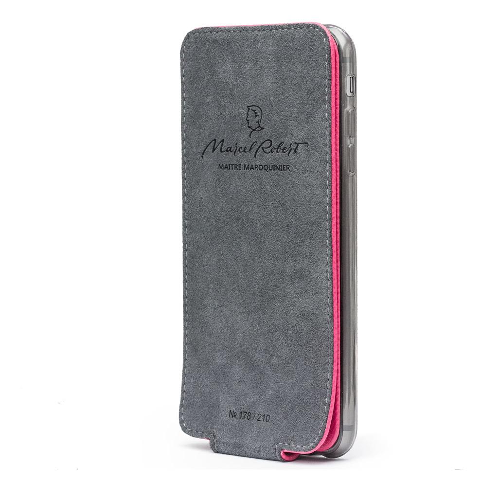 Чехол для iPhone X/XS из натуральной кожи теленка, темно-розового цвета