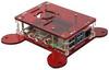 Корпус для Raspberry Pi 4 с креплением VESA (LT-4B17 / акрил / красный)
