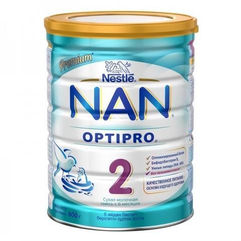 NAN® 2 OPTIPRO® Cухая молочная смесь с рождения  800гр