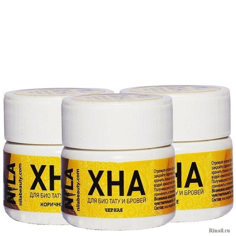 Хна  для бровей и биотату NILA. черная 10 гр.