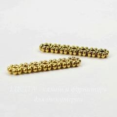 Разделитель на 7 нитей 23х5 мм (цвет - античное золото), ПАРА