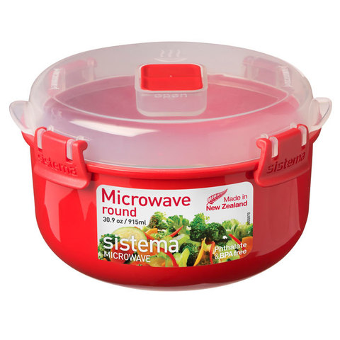 Контейнер круглый Microwave 915 мл, артикул 1113, производитель - Sistema