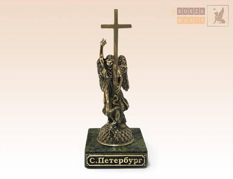 фигурка Ангел на Александровской колонне большой на змеевике