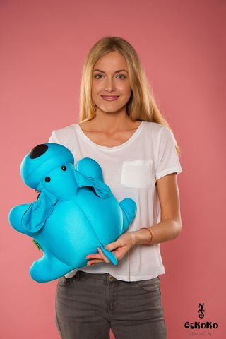 Подушка-игрушка антистресс «Голубой Патрик» 2