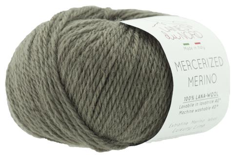 Пряжа Mercerized Merino (Мерсеризед Мерино). Серо-зеленый.Артикул: 5