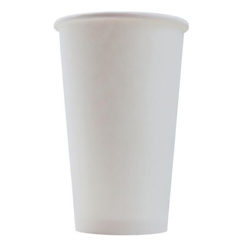 Стакан одноразовый бумажный белый 400 мл 50 штук в упаковке