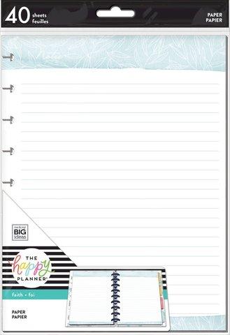 Дополнительный блок листов для ежедневника в линию- Faith Disciplines Filler Paper - Classic