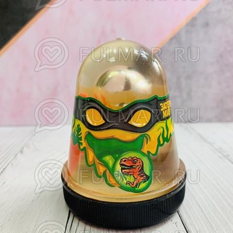 Слайм-лизун Slime Ninja надувающийся, с трубочкой,