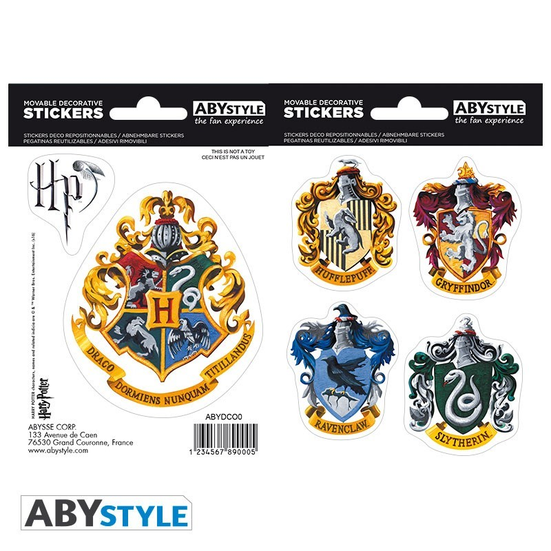 Наклейки ABYstyle: HARRY POTTER: Hogwarts Houses ABYDCO411