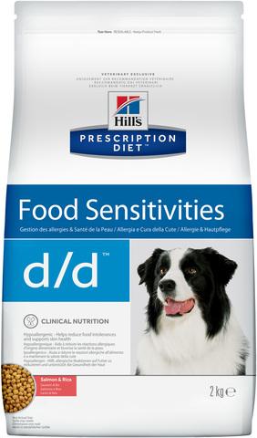 Hills's диета сухой корм для собак D/D Лосось/Рис лечение пищевых аллергий 2кг