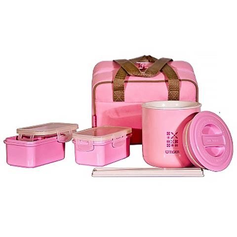 Набор для ланча Tiger (0,36 л, 2 х 0,21 литра), розовый