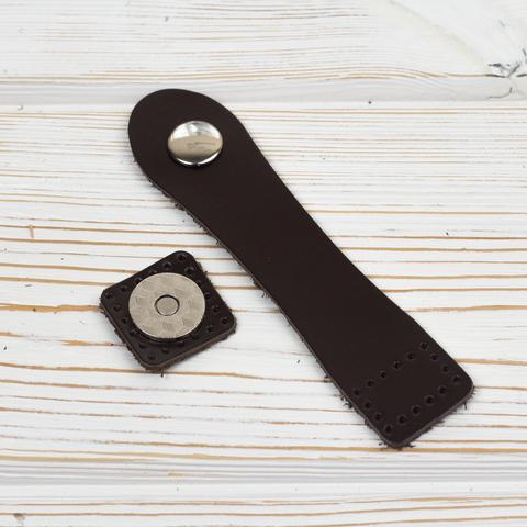 Застежка для сумки черная с магнитной кнопкой