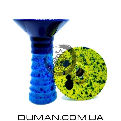 Чаша GrynBowls для кальяна |Small Alien Blue-Dark Blue