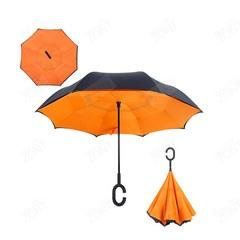 Зонт наоборот оранжевый механический
