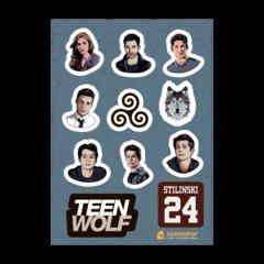 Набор стикеров Teen Wolf
