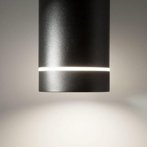 Накладной потолочный светодиодный светильник DLR021 9W 4200K черный матовый