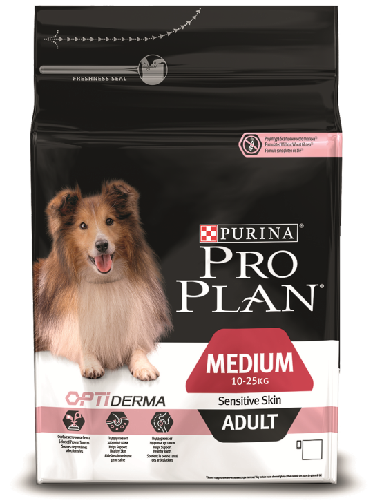 PRO PLAN Medium Adult Sensitive Skin 7 кг