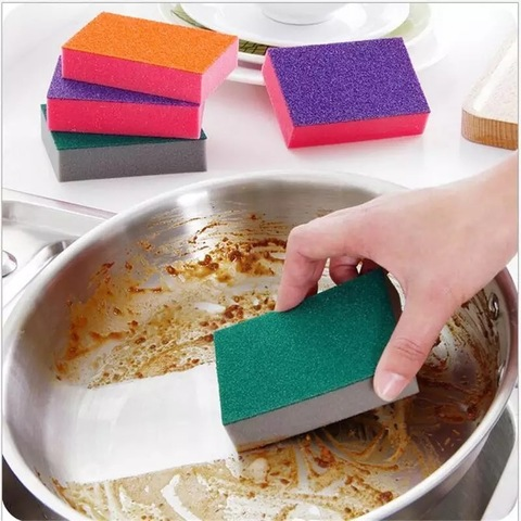 Губка для мытья посуды 3 шт очищающая от накипи, ржавчины