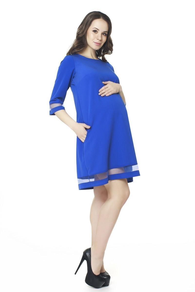 Платье для беременных 07560 синий