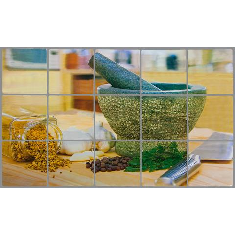 Стикер защитный на кафель «Ступка для специй»  45х75 см