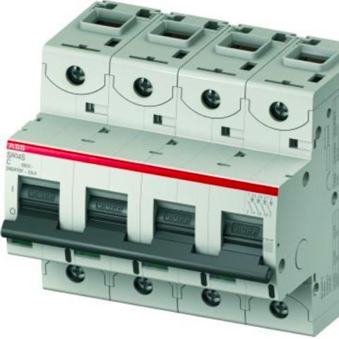 Автоматический выключатель 4-полюсный 25 А, тип C, 25 кА S804S C25. ABB. 2CCS864001R0254