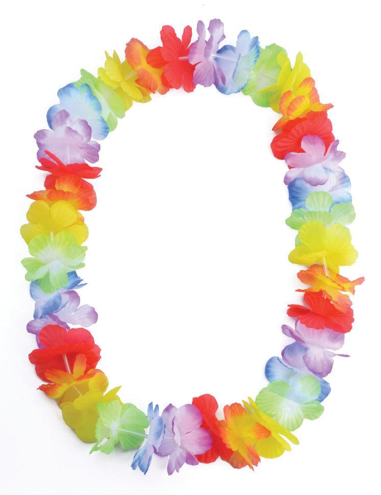 Бусы гавайские из цветов