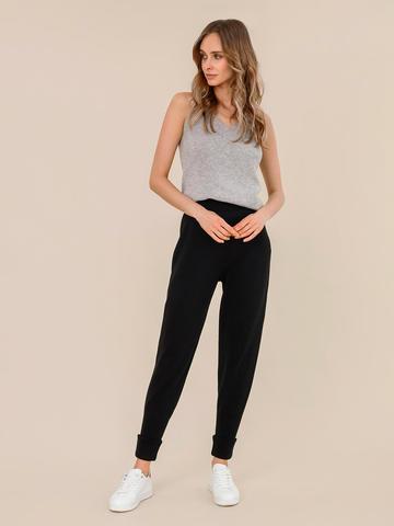 Женские брюки черного цвета из шерсти - фото 2