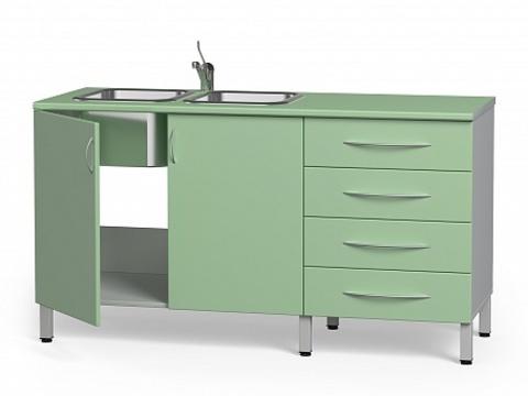 Комплект медицинской мебели БТ-24+БТ-02/4-160 - фото