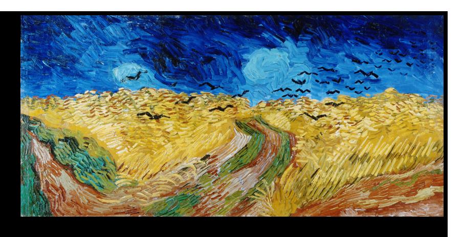 """Ван Гог Репродукция """"Ван Гог - Пшеничное поле с воронами"""" Х52.png"""