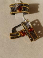 Муррей  (кольцо + серьги из серебра)