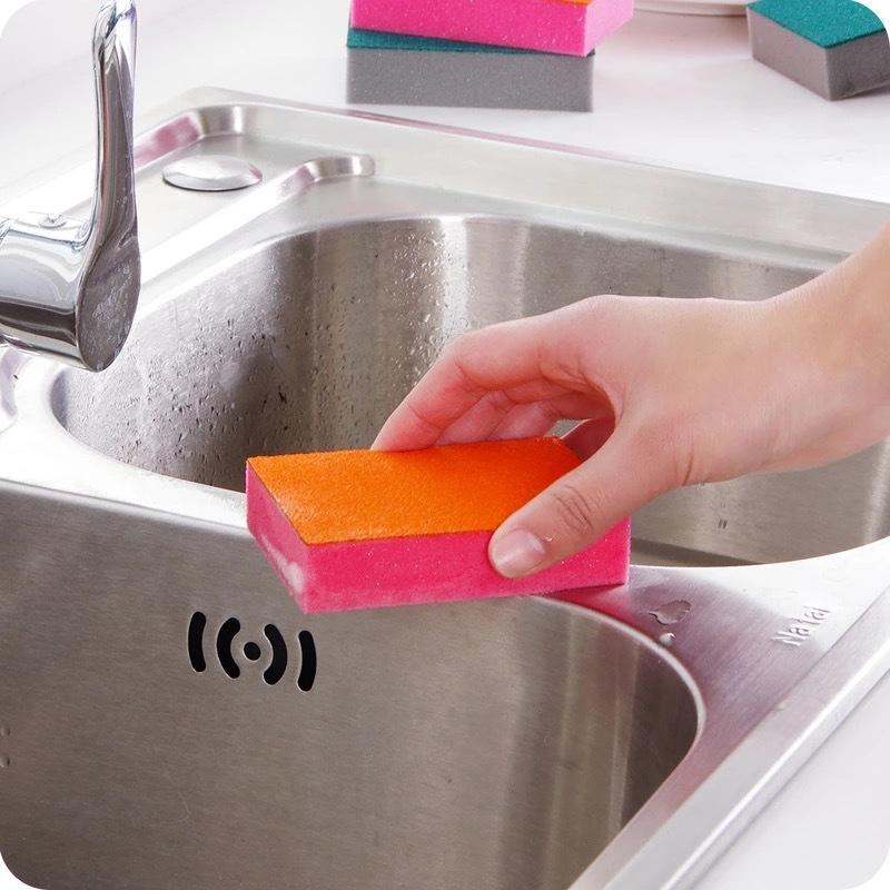 Картинка - Губка для мытья посуды 3 шт очищающая от накипи, ржавчины