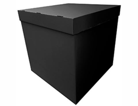 Коробка для шаров с персональным оформлением черная