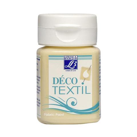 Краска по ткани Lefranc&Bourgeois DECO TEXTIL 50 мл 872, молочно-кремовый