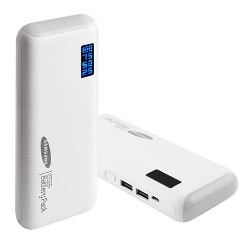 Power Bank Samsung 20000mAh 2USB(1A+2A), цифровой индикатор заряда, фонарик 3LED (140)