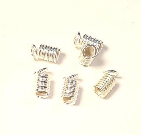 Концевик Пружина 9х4 мм серебро