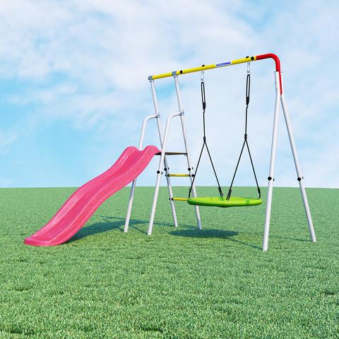 Детский спортивный комплекс для дачи ROMANA Лето ( качели гнездо)